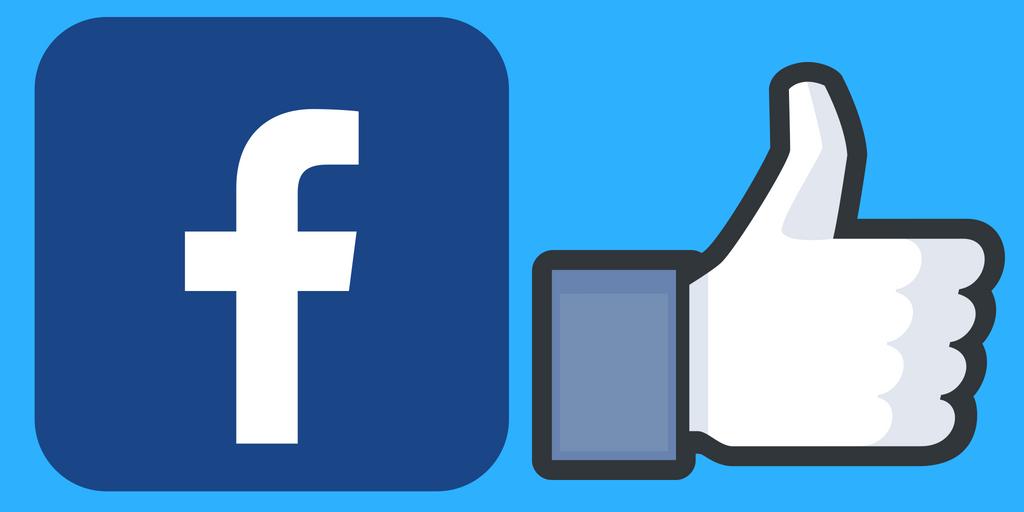 facebook-logo og tommel opp