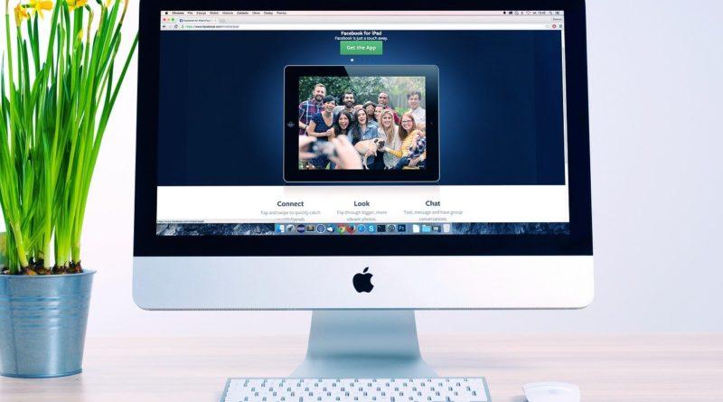 webside på skjerm